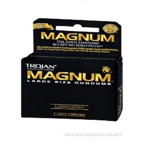 Trojan Magnum Lubricated x 3 condoms