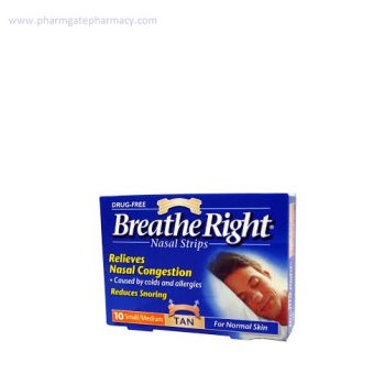 Breathe Right Nasal Strips Large For Normal Skin X 10