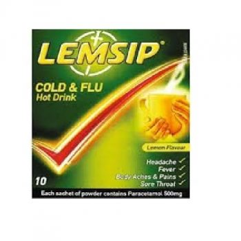 Lemsip Cold & Flu Lemon x 10