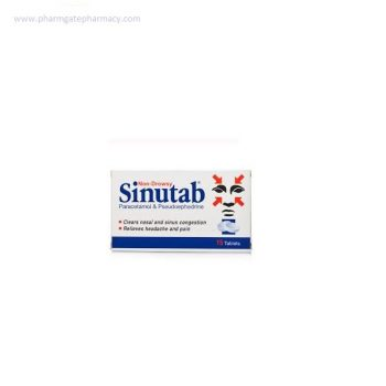 Sinutab Tablets Non-drowsy X 15