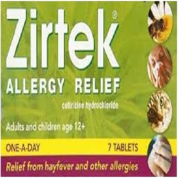 Zirtek Allergy Relief Tablets X 7