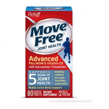 Schiff Move Free Advanced Plus MSM & Vitamin D3 with Glucosamine & Chondroitin X 80