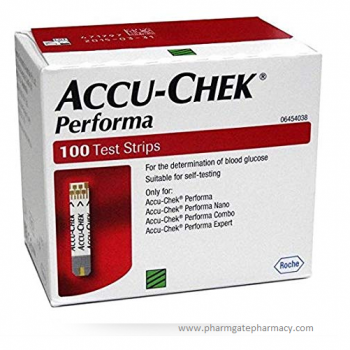 Accu Chek Performa Glucose Test Strips – Pack of 100