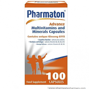 Pharmaton Advance Multivitamin and Mineral Capsules, 100 Caps